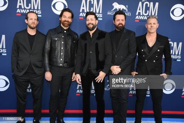 Old Dominion arrives for the 54th Academy of Country Music Awards on April 7 2019 in Las Vegas Nevada