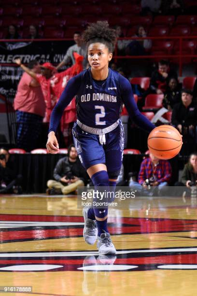 Old Dominion Lady Monarchs guard MaKayla Timmons dribbles the ball during the third period of the Old Dominion Lady Monarchs game versus the Western...