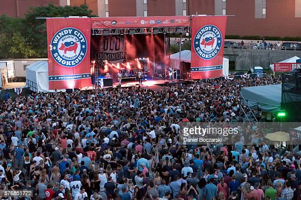 Old Dominion perform during the 4th Annual Windy City Smokeout BBQ and Country Music Festival on July 17 2016 in Chicago Illinois