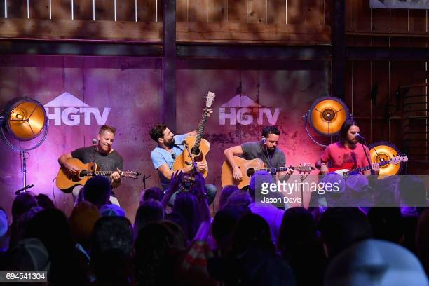 Old Dominion performs onstage at the HGTV Lodge during CMA Music Fest on June 10 2017 in Nashville Tennessee