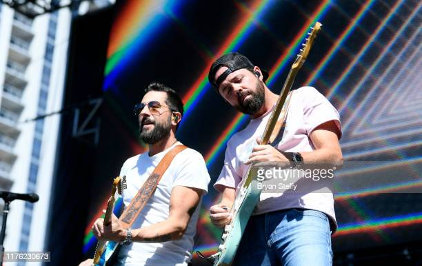 Old Dominion performs onstage during the 2019 iHeartRadio Music Festival and Daytime Stage at the Las Vegas Festival Grounds on September 21 2019 in...