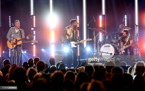 Old Dominion performs onstage during the 54th Academy Of Country Music Awards at MGM Grand Garden Arena on April 07 2019 in Las Vegas Nevada