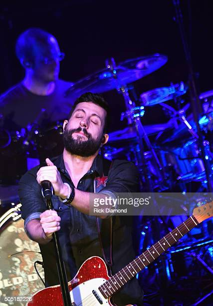 Old Dominion's Matthew Ramsey and Whit Sellers perform Opening night of their Meat and Candy 2016 tour at Marathon Music Works on January 14 2016 in...