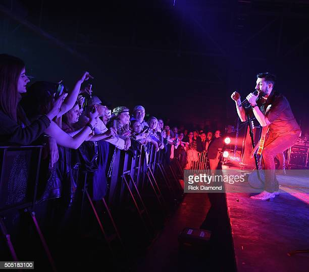 Old Dominion's Matthew Ramsey on stage Opening Night of their Meat and Candy 2016 tour at Marathon Music Works on January 14 2016 in Nashville...