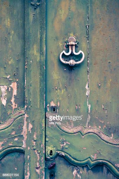 Old door. Bageneres-de-Bigorre. Hautes-Pyrenees department, Midi-Pyrenees region, France, Europe.