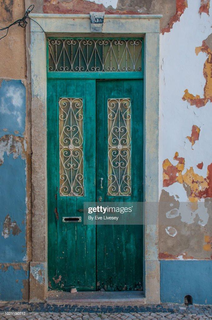 Old Door In Faro Town : Stock Photo