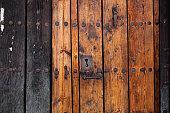 old door with vintage lock