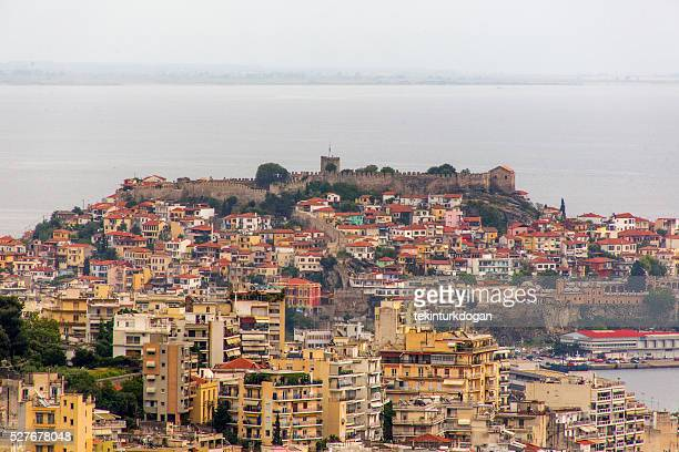 old downtown kavala cityview at greece