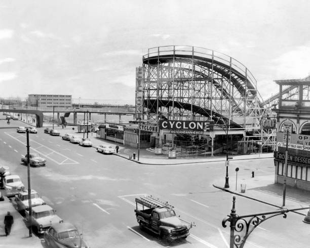 Old Dreamland Park site and Coney Island Cyclone rollercoast