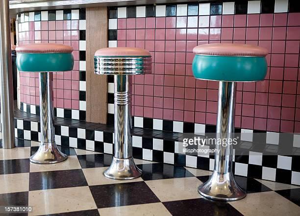 Old Drugstore Soda Fountain Seats