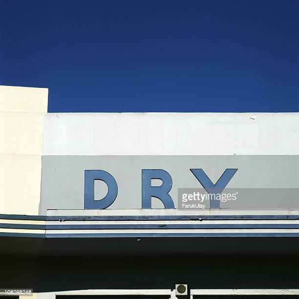 Old 'Dry' Sign on Building