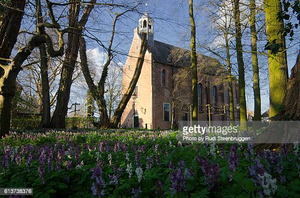 old dutch church - overijssel stock pictures, royalty-free photos & images
