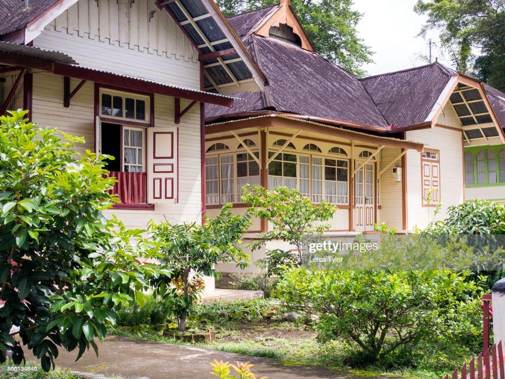 Gadang Bukittinggi Sumatra Indonesia Old Dutch Houses In Koto