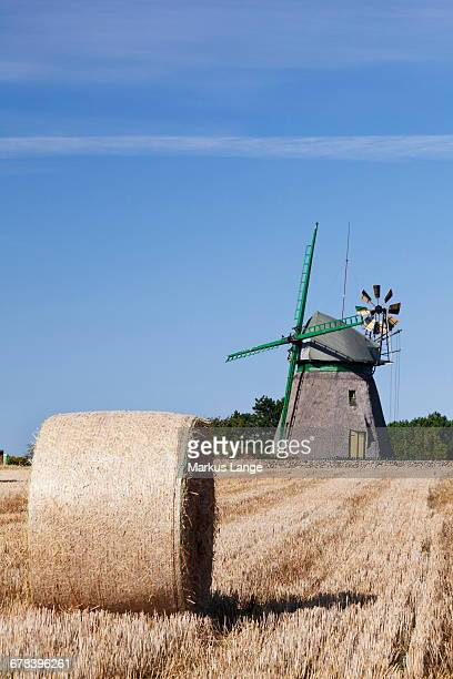 Old Dutch windmill, Nebel, Amrum, North Frisian Islands, Nordfriesland, Schleswig Holstein, Germany, Europe