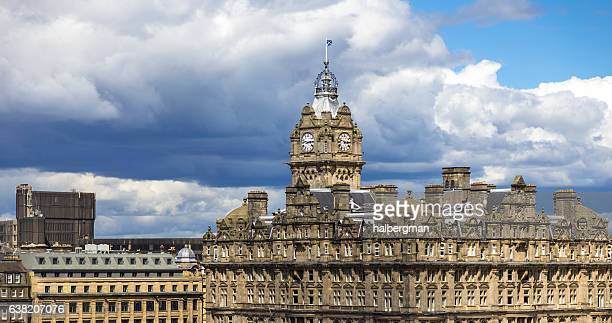 old edinburgh buildings - balmoral hotel stock pictures, royalty-free photos & images