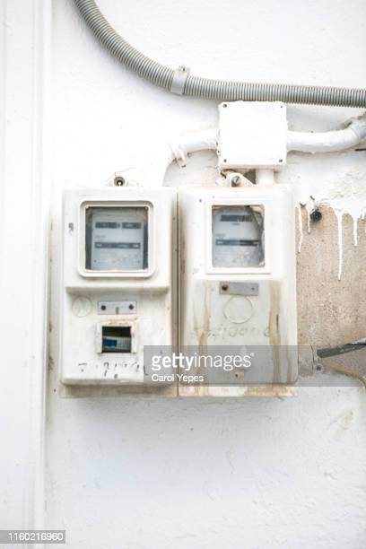 old electric panel - electrical panel box stock pictures, royalty-free photos & images