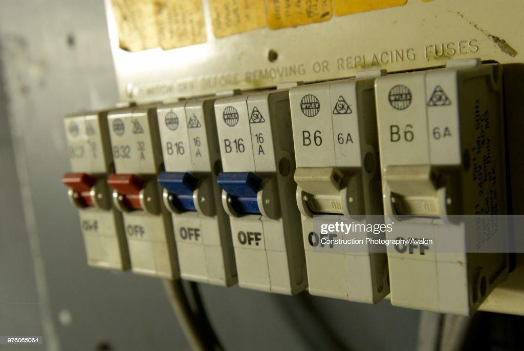 Old electrical installation with fuse box. News Photo ... on outdated fuse box, old time electrical fuse, 100 amp electrical box, old electrical breaker box, old breaker box fuses, old electrical circuit box, old electrical light box, old fuse panel, old electrical panel box, murray fuse box,