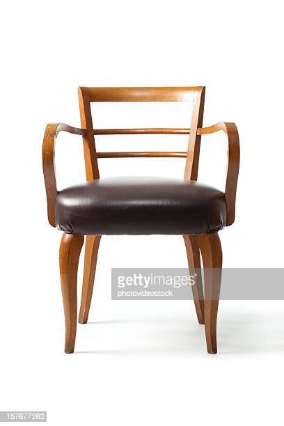 velho isolado no branco elegante cadeira - cadeira - fotografias e filmes do acervo