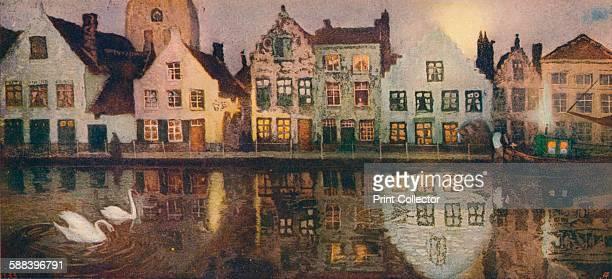 Old Embankment at Bruges' circa 1890 From The Studio Volume 41 Artist Victor Olivier Gilsoul