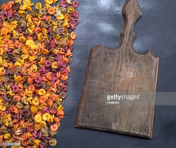 old empty wooden cutting board unprepared