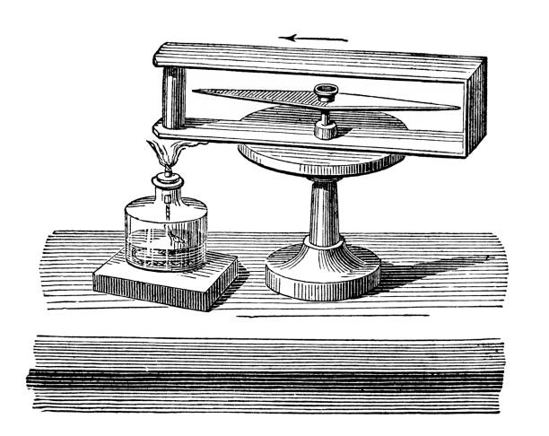 Old engraved illustration of Electricity - Thermo-Electricity.