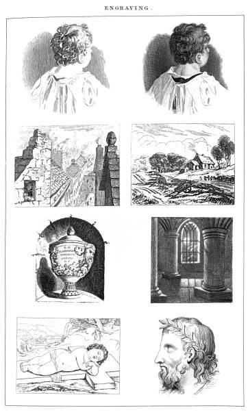 Old engraved illustration of Engraving, Popular Encyclopedia Published 1894