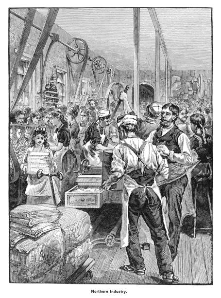 Old engraved illustration of Northern American Industry