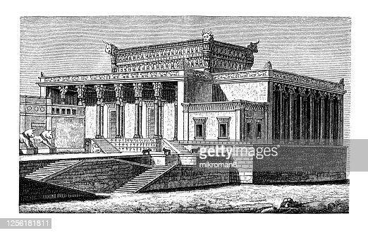 Old Engraved Illustration Of Palace Of Xerxes Persepolis Iran Assyrian Babylonian Persian Asia Minor Phoenician Hebrew Architecture High Res Stock Photo Getty Images