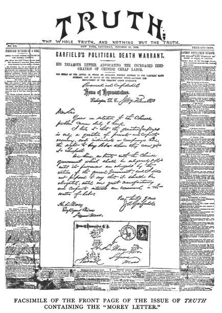 Old engraved illustration of The Morey letter
