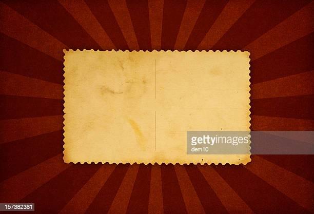 Vieux enveloppe et ray motifs