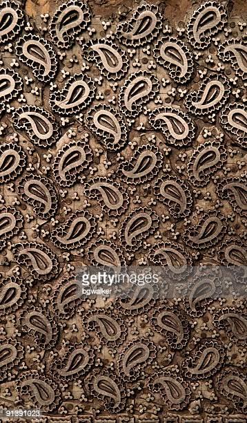 tissu ancien bloc imprimante - cachemire motif photos et images de collection