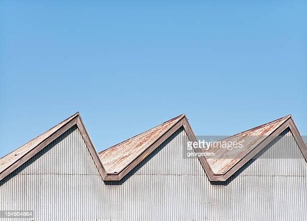 Alten Fabrik Dach Hintergrund