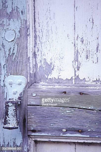 Old, faded wooden door, detail