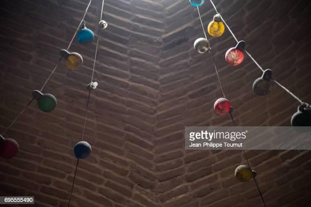 Old fairy lights in the Bazaar of Isfahan, Iran