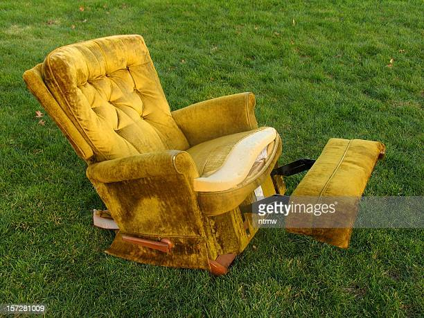 old faithful 1 - reclining chair stock photos and pictures