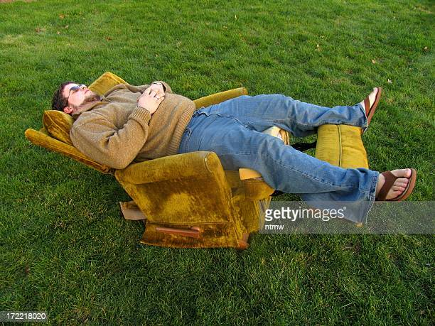 old faithful 2 - reclining chair stock photos and pictures