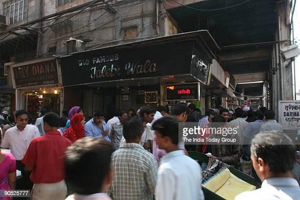 Old Famous Jalebi Wala shop at Chandni Chowk
