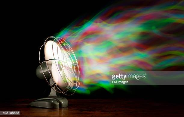 Old Fan Blowing Multi Colors
