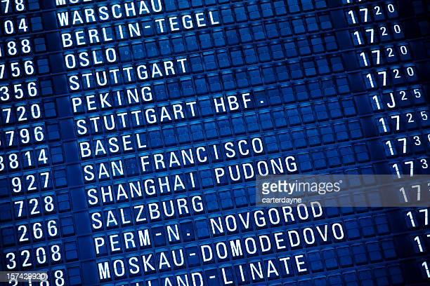 オールドファッション空港リーダーボード - シュトゥットガルト ストックフォトと画像