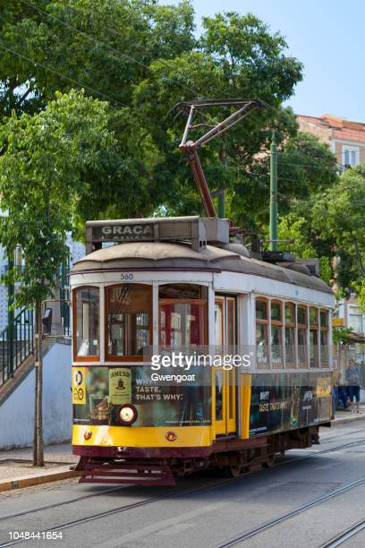 Old fashion cable car in Lisbon