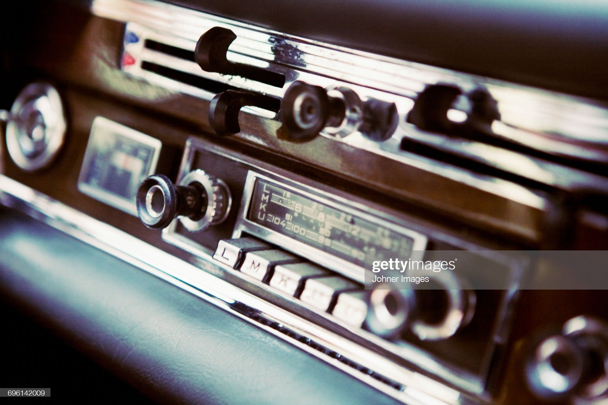 Old fashion car stereo : Stock Photo