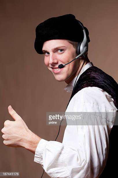 old fashion customer support - 17th century style stock photos and pictures