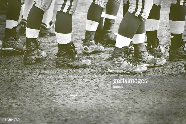 old fashion football - american football sport stockfoto's en -beelden