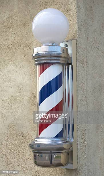 Old fashioned barber pole
