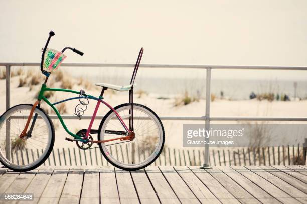 Old Fashioned Bicycle on Boardwalk