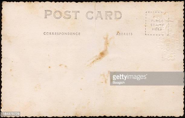 Old Fashioned Blank Vintage Paper Postcard Backgrounds