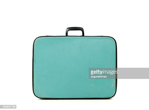 Old fashioned blue suitcase