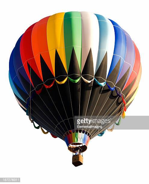 Old Fashioned montgolfière isolé sur blanc