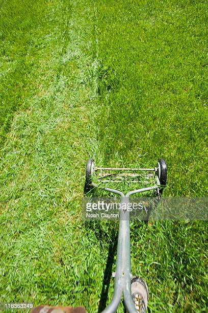 vintage lawn mowers stock photos and pictures getty images. Black Bedroom Furniture Sets. Home Design Ideas