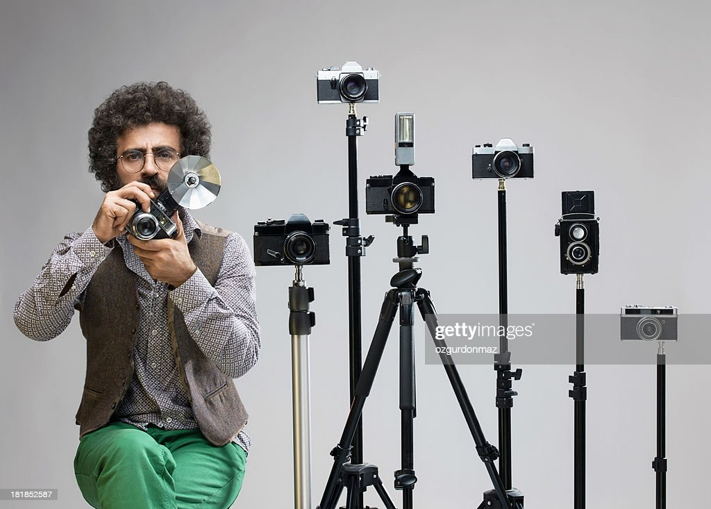 Old Fashioned Photographer : Stock Photo